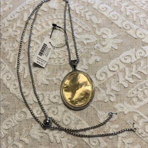 Chico's adjustable,reversible,silver/gold necklace